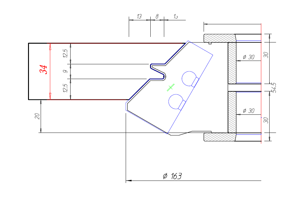 CutterShare Lock Miter Tool Drawing Thumbnail