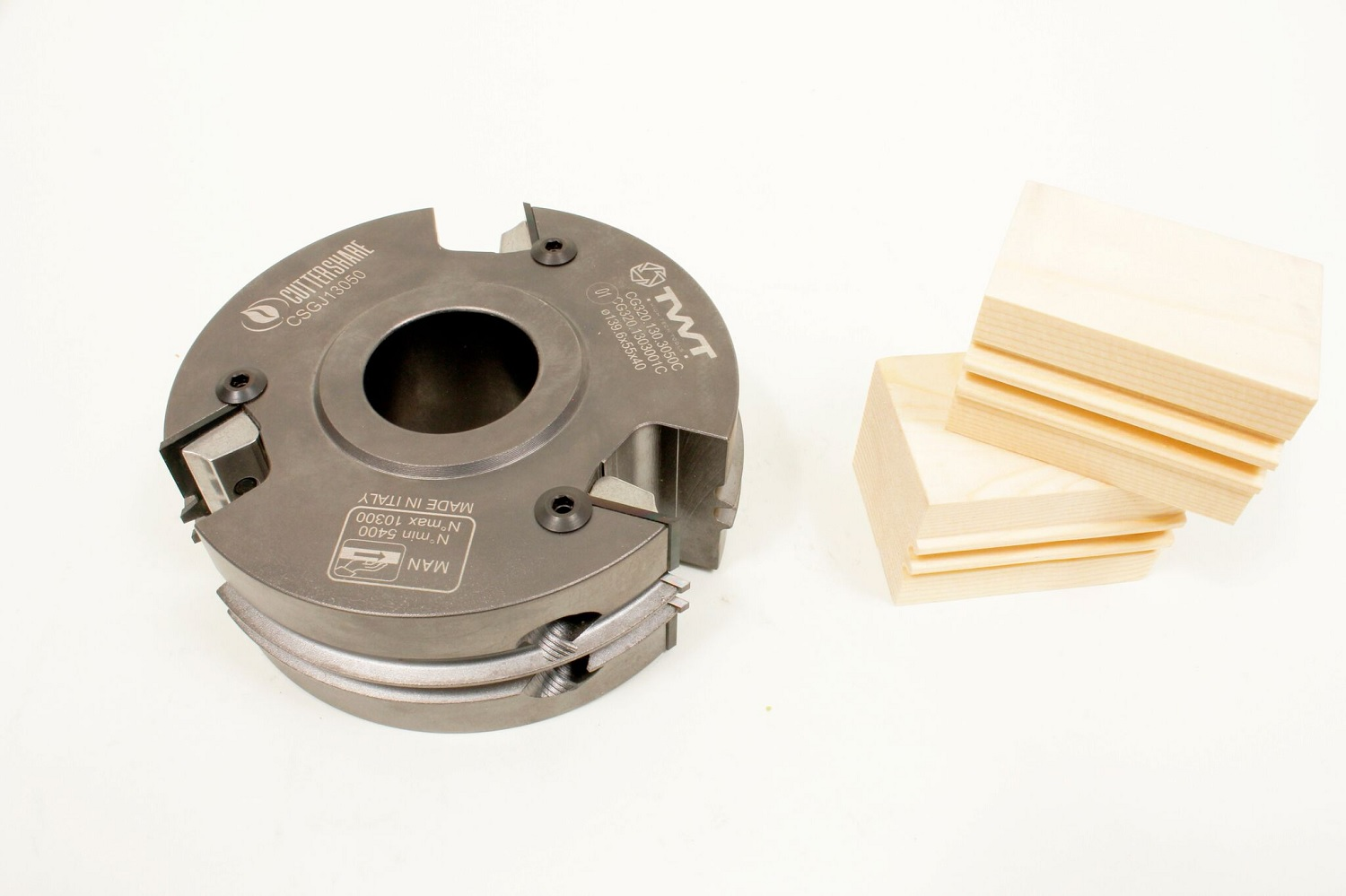 Deep Groove Glue Joint Cutter with Wood Sample